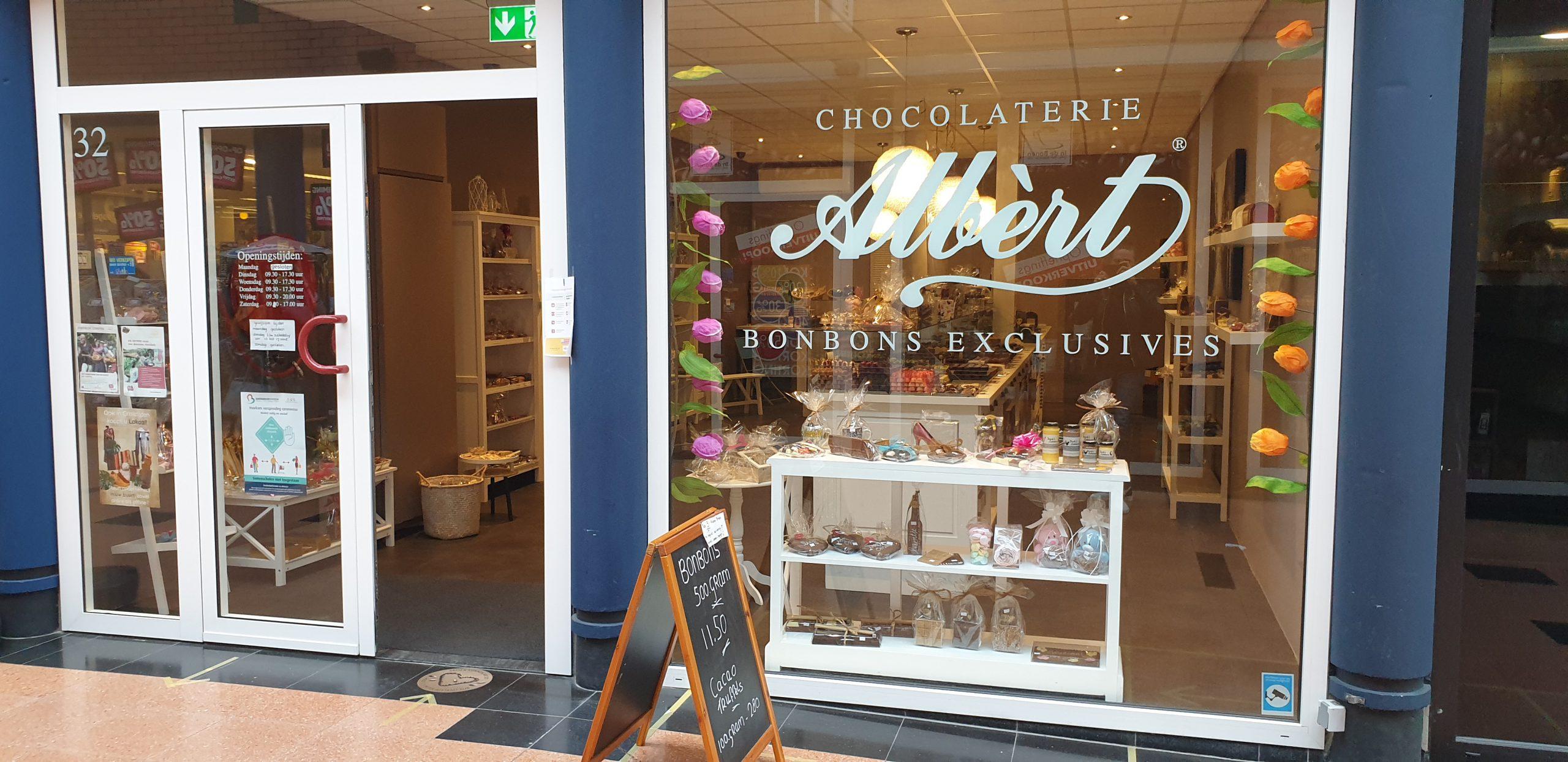 Chocolaterie Albert Barendrecht winkelfoto